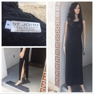 St. John collection black dress Gown sise 4